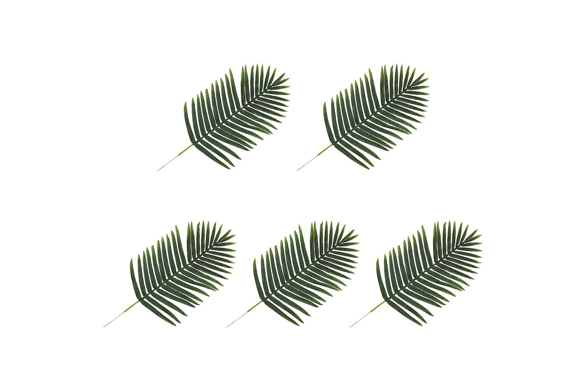 Konstgjorda blad Palm 5 st grön 95 cm