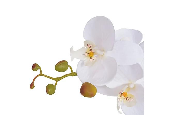 Konstväxt Orkidé med kruka 75 cm vit - Vit - Möbler & Inredning - Inredning