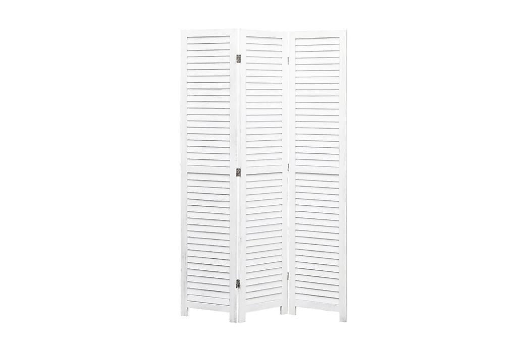 Rumsavdelare 3 paneler vit 105x165 cm trä - Vit - Möbler & Inredning - Inredning - Rumsavdelare
