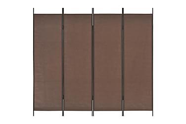 Rumsavdelare 4 paneler brun 200x180 cm