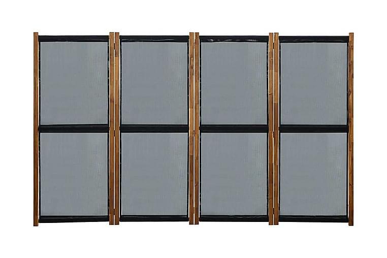 Rumsavdelare 4 paneler svart 280x170 cm - Svart - Möbler & Inredning - Inredning - Rumsavdelare
