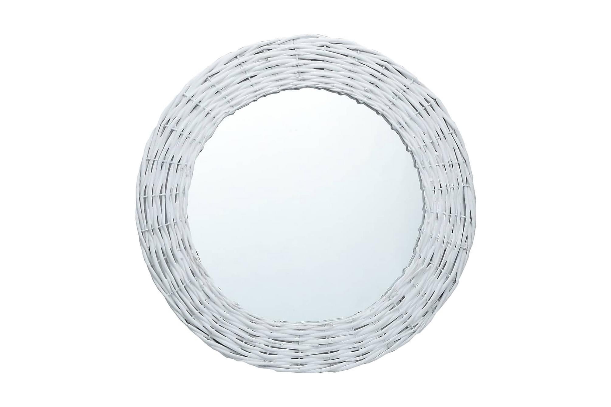 Spegel vit 60 cm korgmaterial