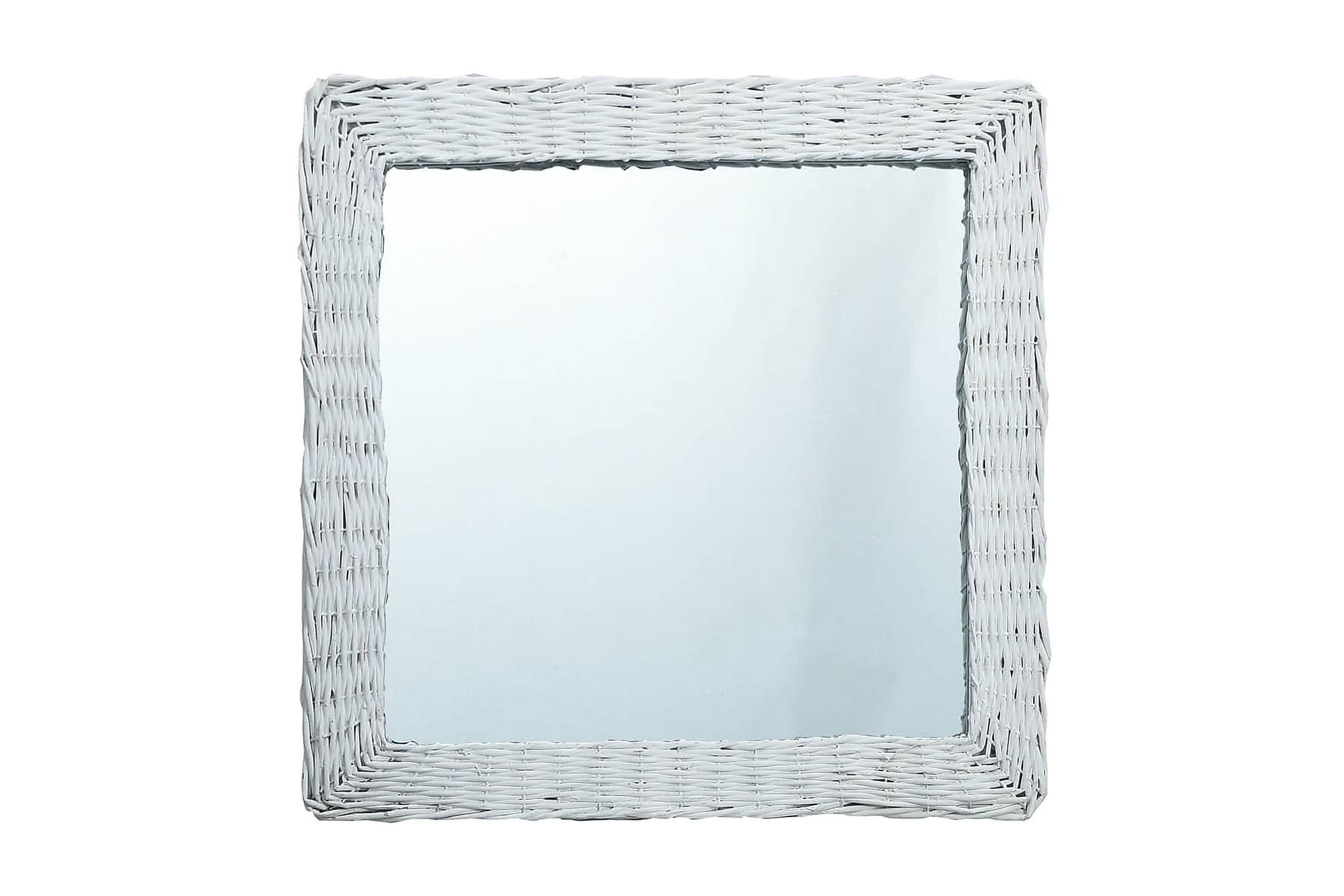 Spegel vit 60x60 cm korgmaterial