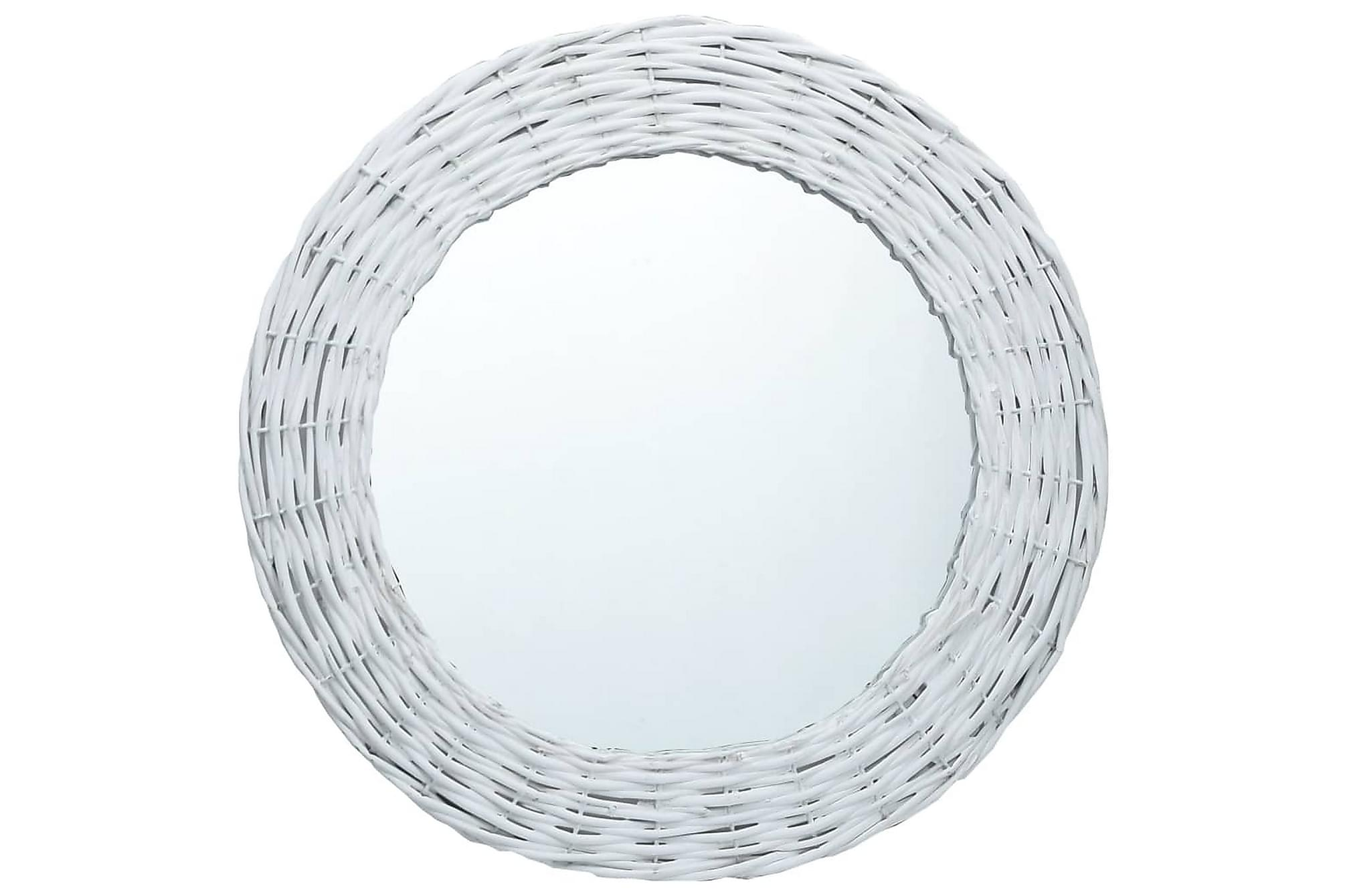 Spegel vit 80 cm korgmaterial