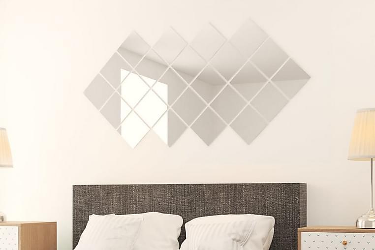Spegelplattor 48 st fyrkantig spegelglas - Silver - Möbler & Inredning - Inredning - Speglar