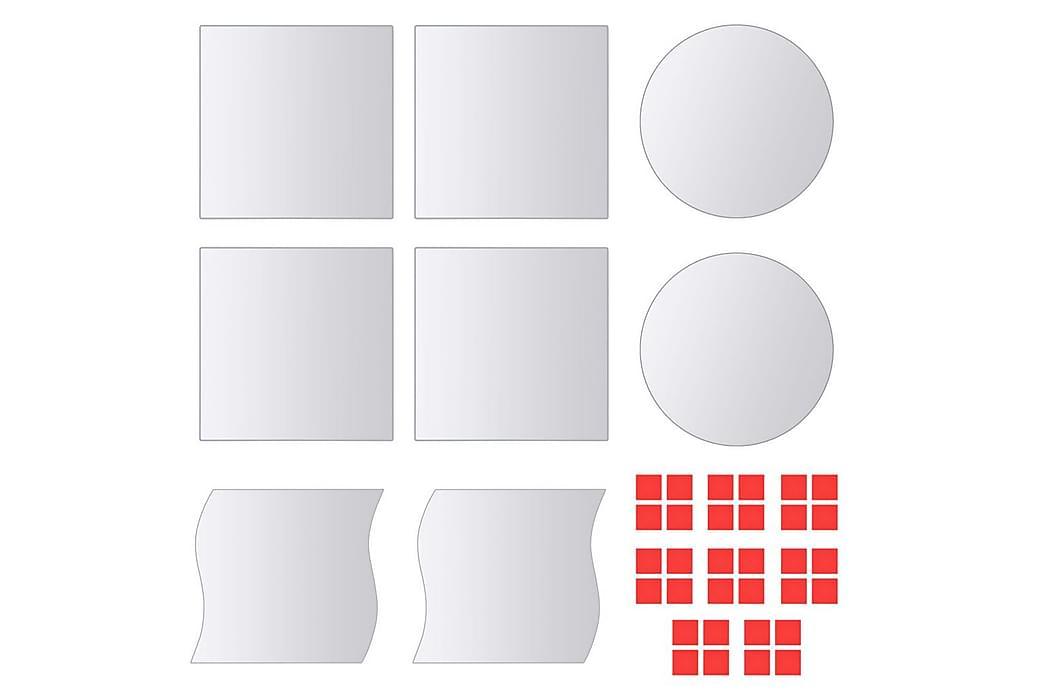 Spegelplattor 8 st multiform spegelglas - Silver - Möbler & Inredning - Inredning - Speglar