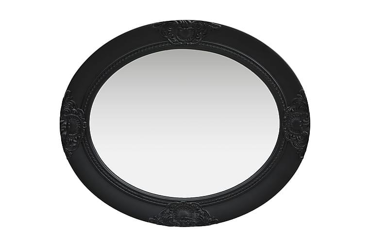 Väggspegel barockstil 50x60 cm svart - Svart - Möbler & Inredning - Inredning - Speglar