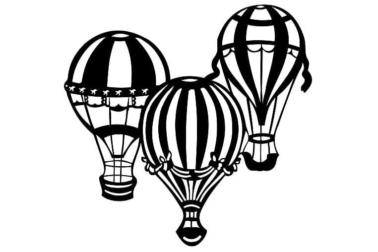 Ballonger Väggdekor - Homemania - Möbler & Inredning - Inredning - Posters & tavlor