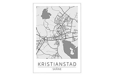 POSTER Kristianstad Stadskarta 50x70