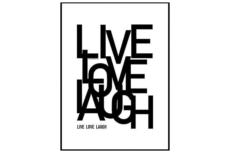POSTER Live Love Laugh - Finns i flera storlekar - Möbler & Inredning - Inredning - Posters & tavlor