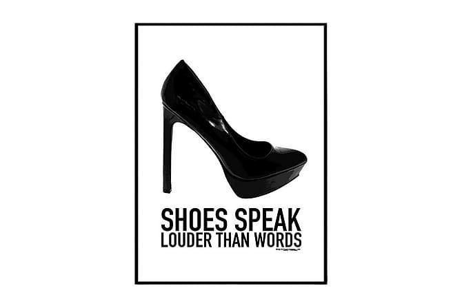 POSTER Shoes speak - Finns i flera storlekar - Möbler & Inredning - Inredning - Posters & tavlor