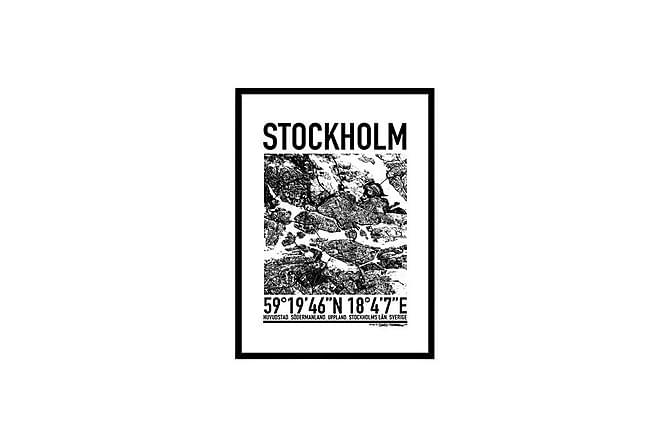 POSTER Stockholm map - Finns i flera storlekar - Möbler & Inredning - Inredning - Posters & tavlor