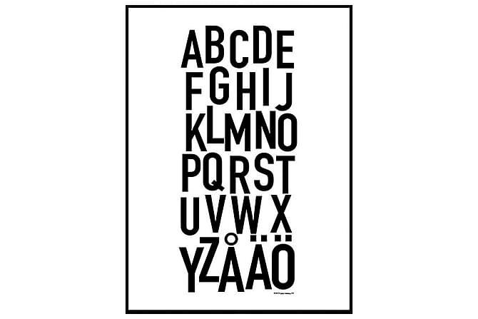 POSTER svenskt alfabet - Finns i flera storlekar - Möbler & Inredning - Inredning - Posters & tavlor