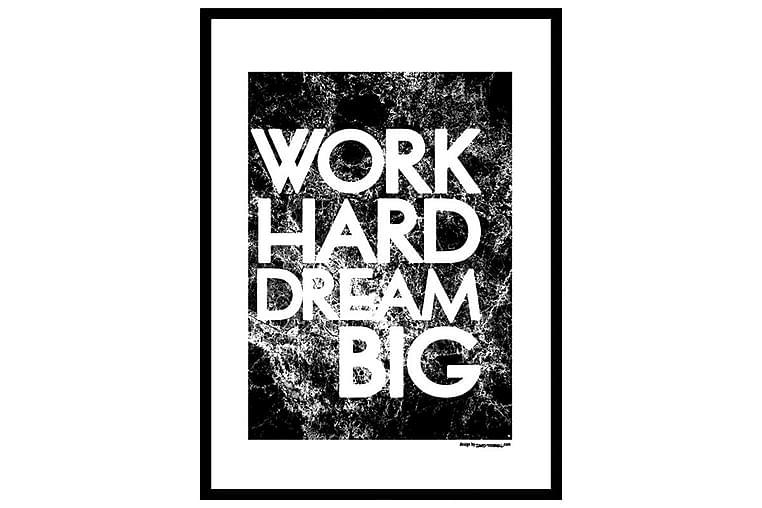 POSTER Work hard - Finns i flera storlekar - Möbler & Inredning - Inredning - Posters & tavlor