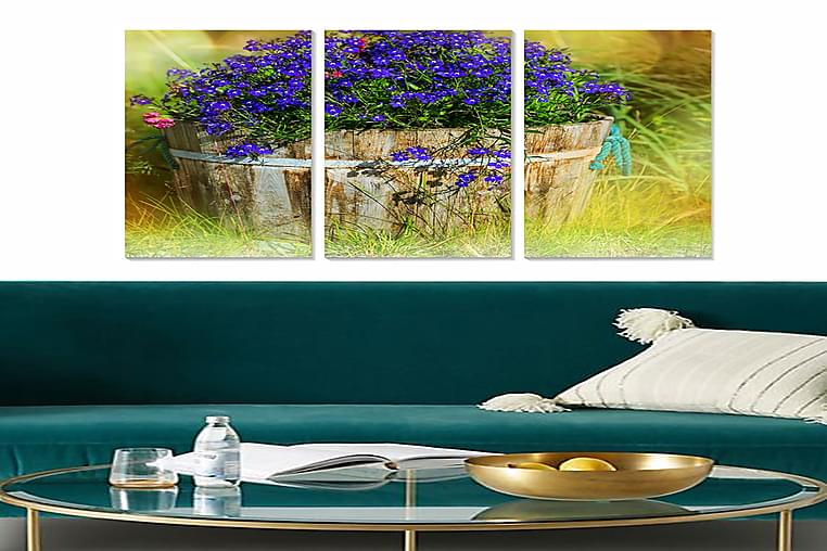 TAVLA Floral 3-pack Flerfärgad 20x50 cm - Inredning & dekor - Tavlor & konst - Poster & print