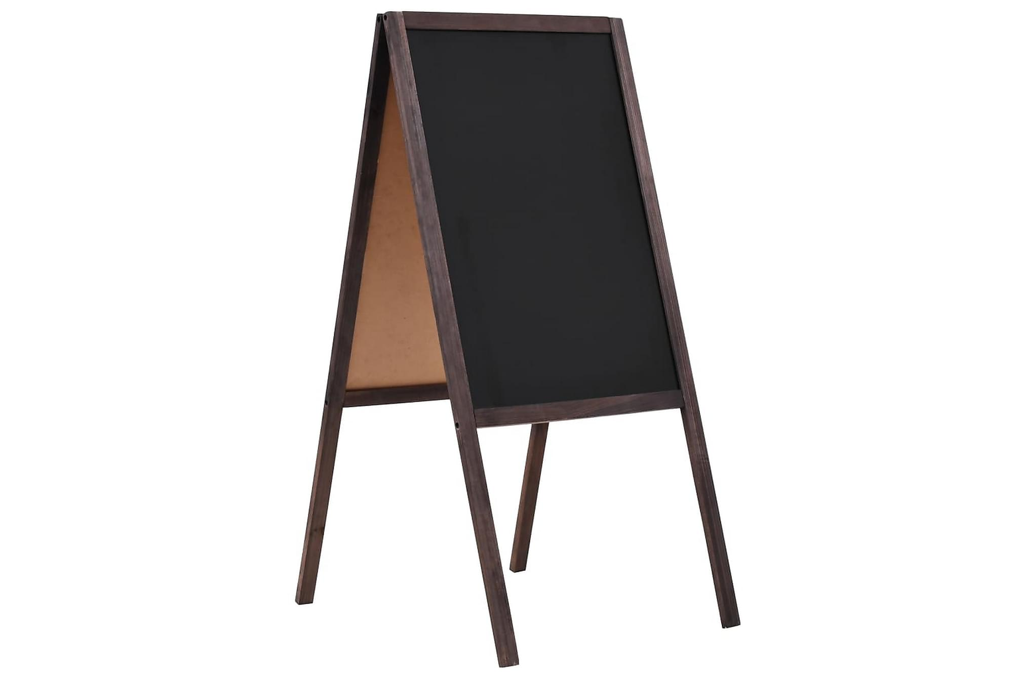 Griffeltavla dubbelsidig cedarträ fristående 40x60 cm, Whiteboards & griffeltavlor