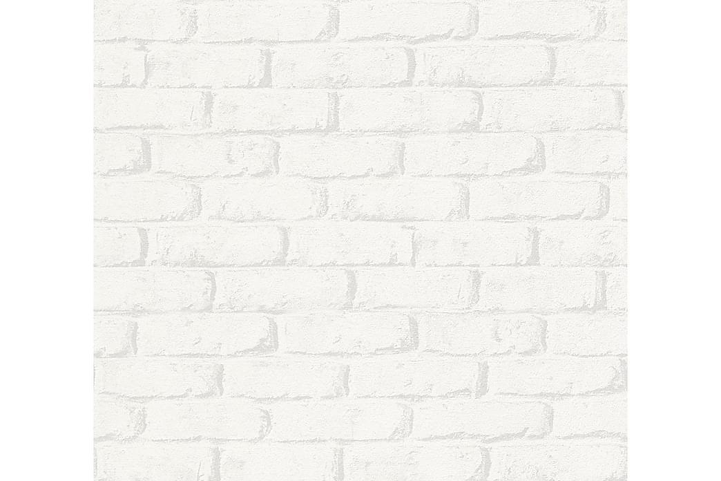 Stone effect Tapet Boys & Girls Papper Vit - AS Creation - Möbler & Inredning - Inredning - Tapeter