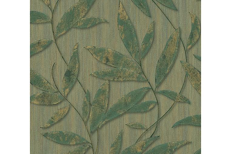 Blommig Tapet Siena Ovävd Grön Guld - AS Creation - Möbler & Inredning - Inredning - Tapeter