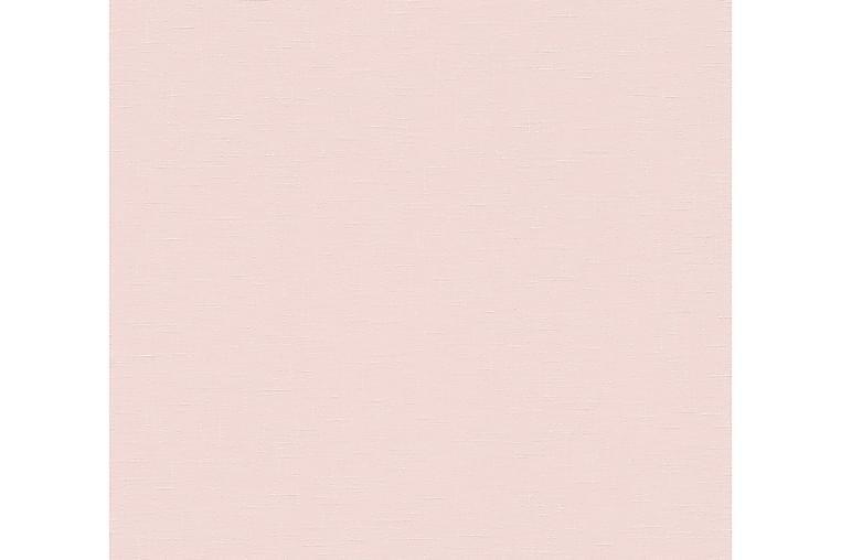 Slät Tapet Linné Style Ovävd Rosa - AS Creation - Möbler & Inredning - Inredning - Tapeter