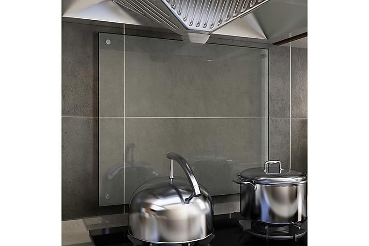 Stänkskydd transparent 70x60 cm härdat glas - Transparent - Möbler & Inredning - Inredning - Husgeråd & kökstillbehör