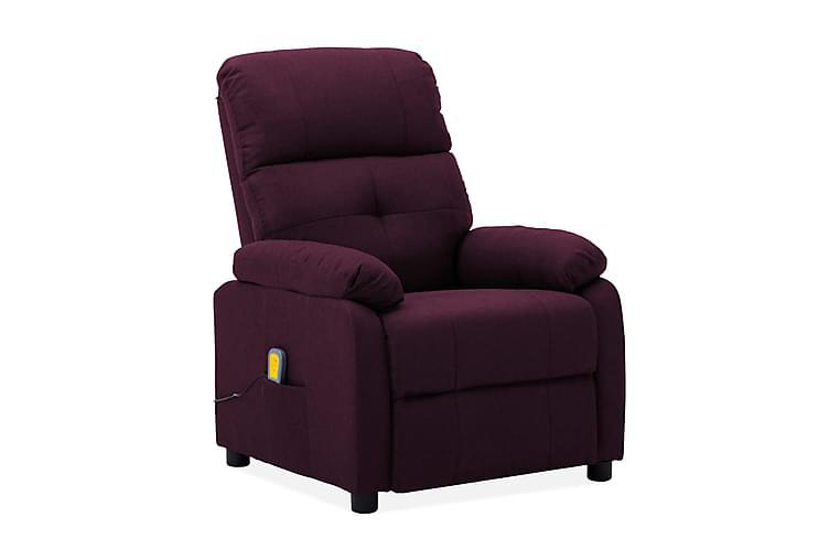 Massagefåtölj lila tyg - Lila - Möbler & Inredning - Fåtöljer & fotpallar - Massagestolar & massagefåtöljer