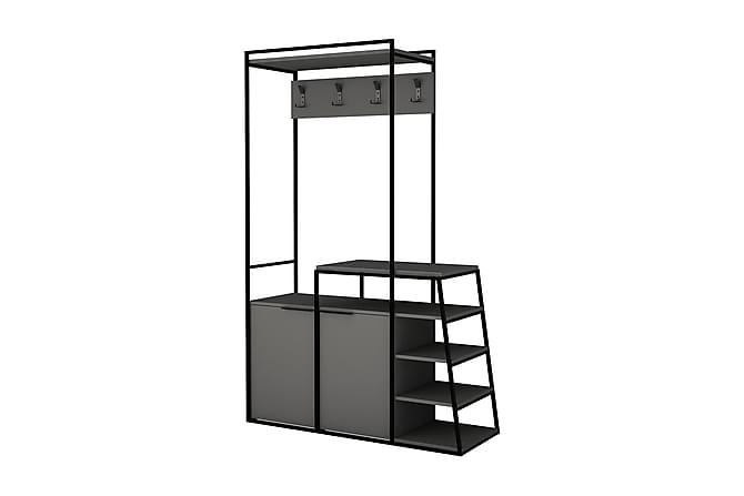BEARDWOOD Hallmöbel 116 cm Antracit/Svart - Möbler & Inredning - Förvaring - Hallmöbler