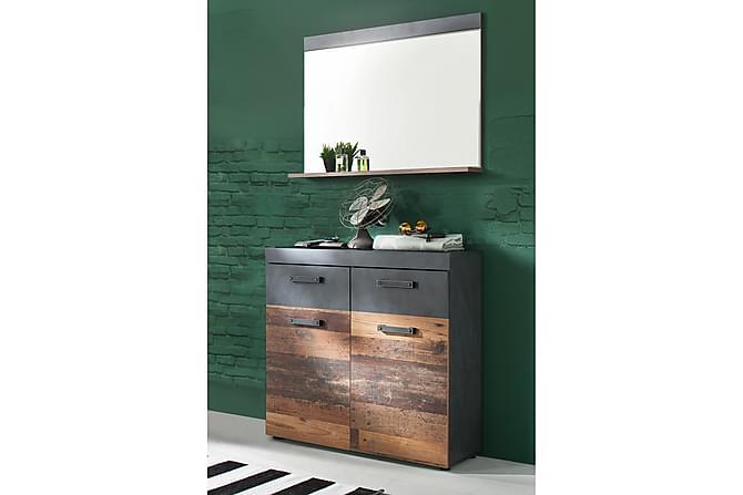 BUCINE Hallmöbelset 90 Grå - Möbler & Inredning - Möbelset - Möbelset för hall & entré