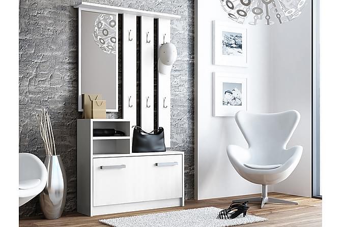 FANO Hallmöbel 85 Vit - Vit - Möbler & Inredning - Möbelset - Möbelset för hall & entré