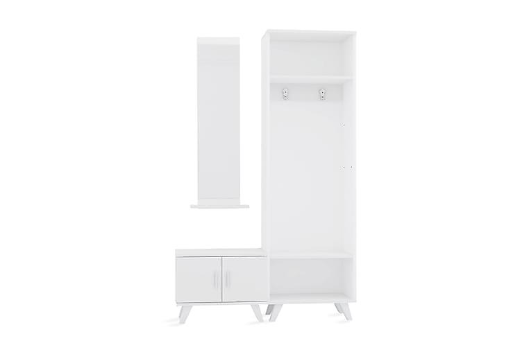 GRANKULLA Klädförvaring 120 cm Vit - Möbler & Inredning - Förvaring - Hallmöbler