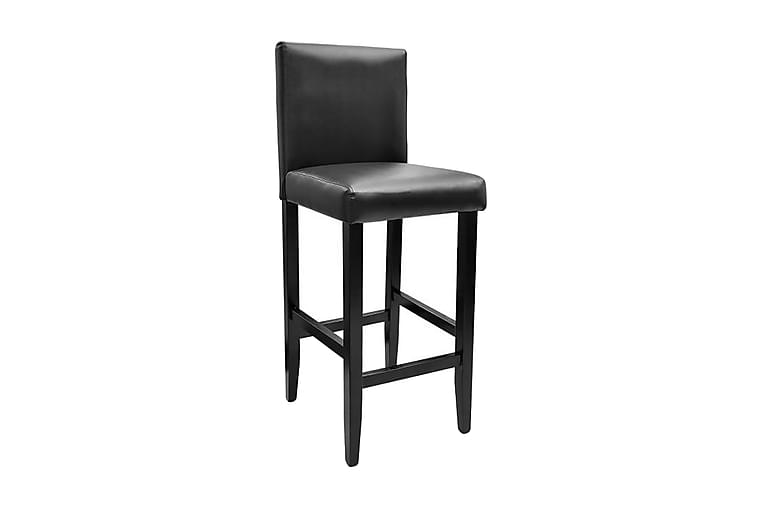Barstolar 4 st svart konstläder - Svart - Möbler & Inredning - Stolar - Barstolar