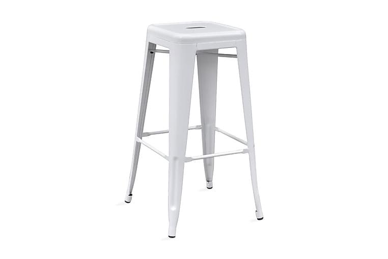 Barstolar 4 st vit stål - Vit - Möbler & Inredning - Stolar - Barstolar