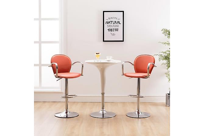 Barstolar med armstöd 2 st orange konstläder - Orange - Möbler & Inredning - Stolar - Barstolar