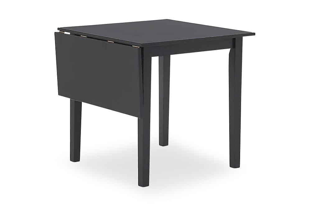 SANTINO Förlängningsbart Matbord 75 med Klaff Svart, Klaffbord