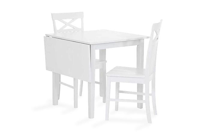 SANTINO Förlängningsbart Matbord 75 med Klaff Vit - Möbler & Inredning - Bord - Klaffbord
