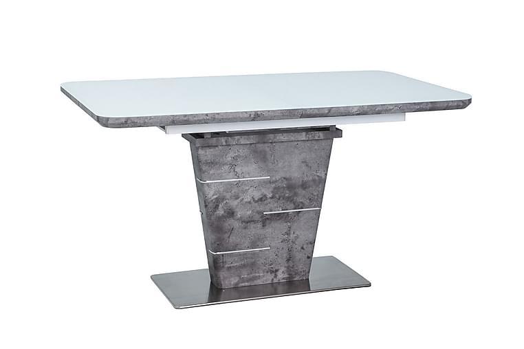 ADICE Förlängningsbart Matbord 140 cm Glas/Vit/Grå - Möbler & Inredning - Bord - Matbord