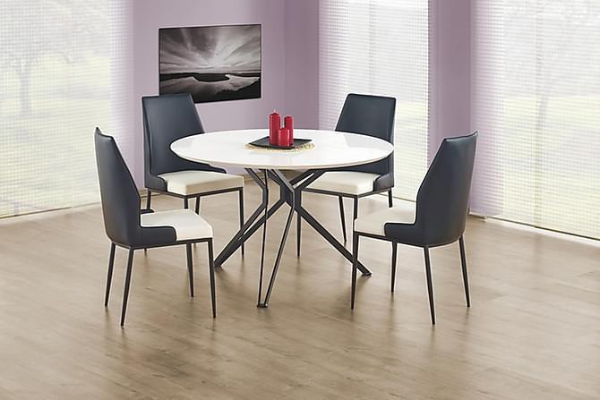BENITO Matbord 120 Vit/Svart - Möbler & Inredning - Bord - Matbord