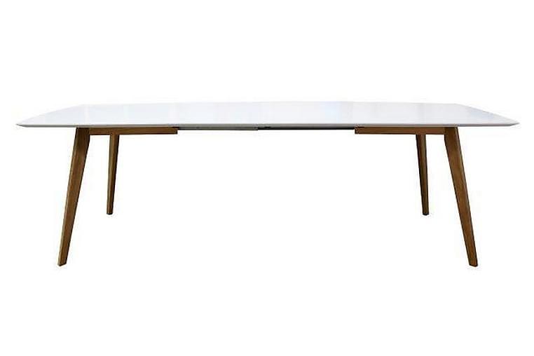 Bess Bord 95 cm Vit/Brun - Möbler - Matplats - Matbord & köksbord