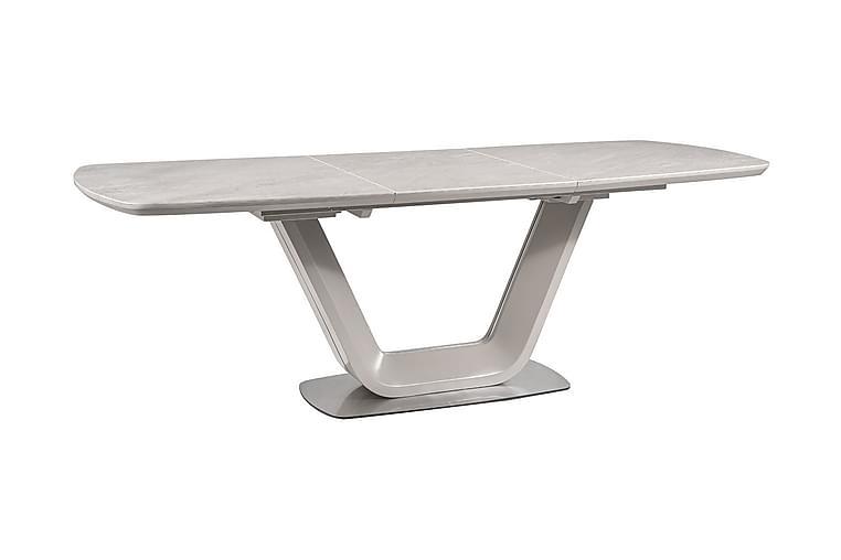 BETHAL Förlängningsbart Matbord 160 cm Keramik/Grå - Möbler & Inredning - Bord - Matbord