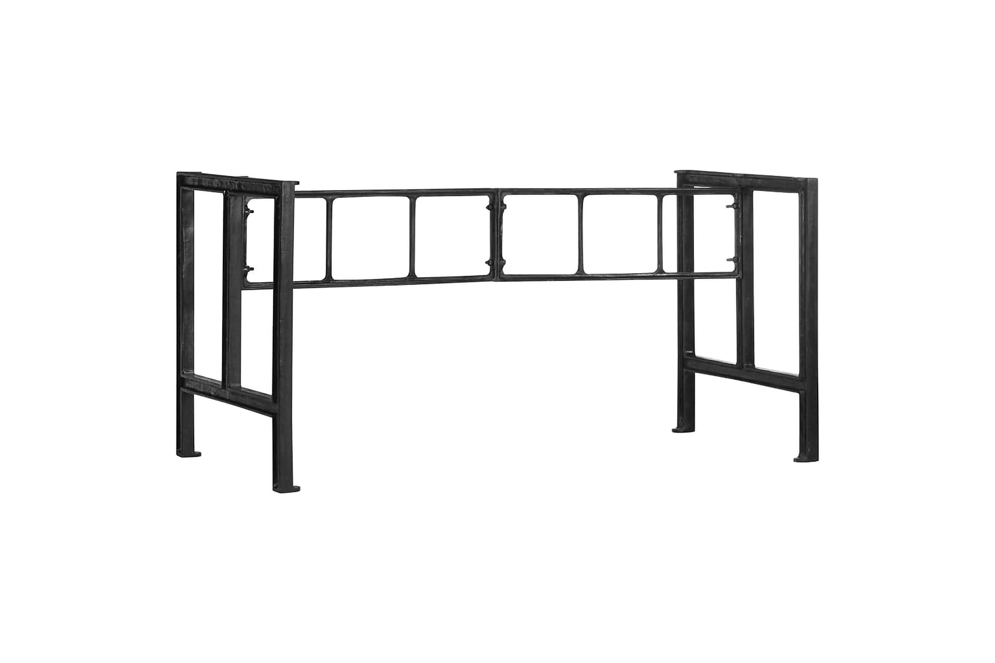 Bordsben för matbord 150x68x73 cm gjutjärn, Bord