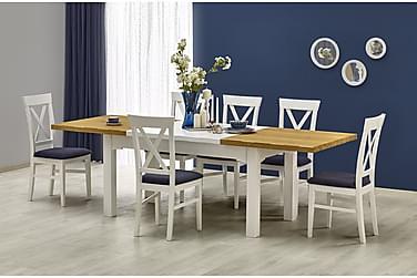BULIMA Förlängninsbart Matbord 160 Ek/Vit