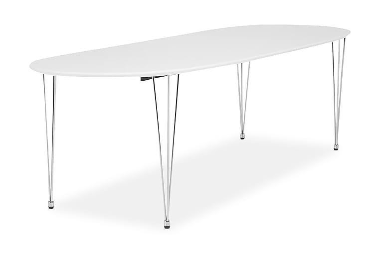 CADI Matbord 180 Oval med 2 Tilläggsskivor Vit - Möbler & Inredning - Bord - Matbord