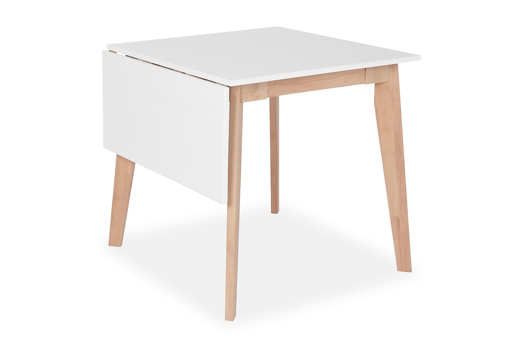 CARLITO Förlängningsbart Matbord 75 Vit, Klaffbord
