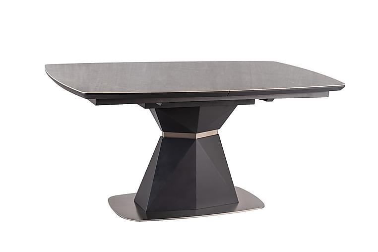 COQUINA Förlängningsbart Matbord 160 cm Keramik/Svart/Silver - Möbler & Inredning - Bord - Matbord