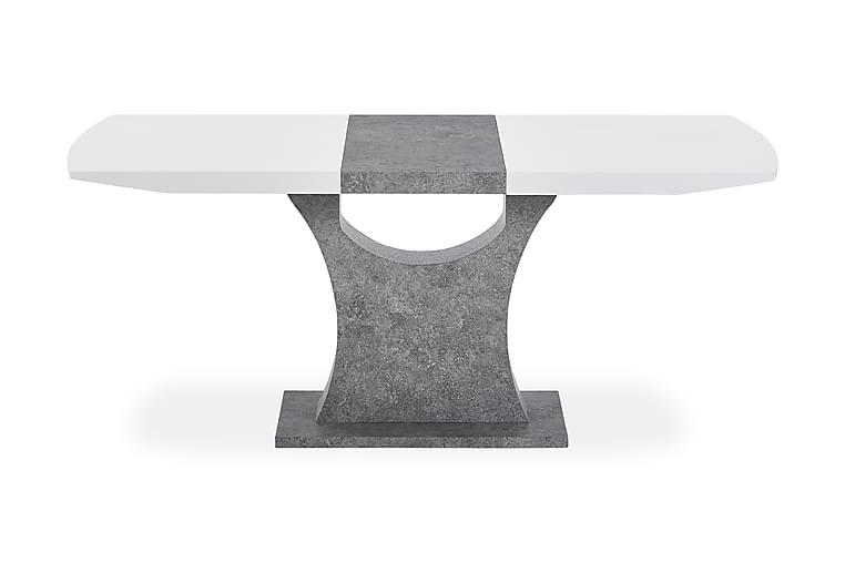 ELLA Förlängningsbart Matbord 140 Vit/Grå - Möbler & Inredning - Bord - Matbord