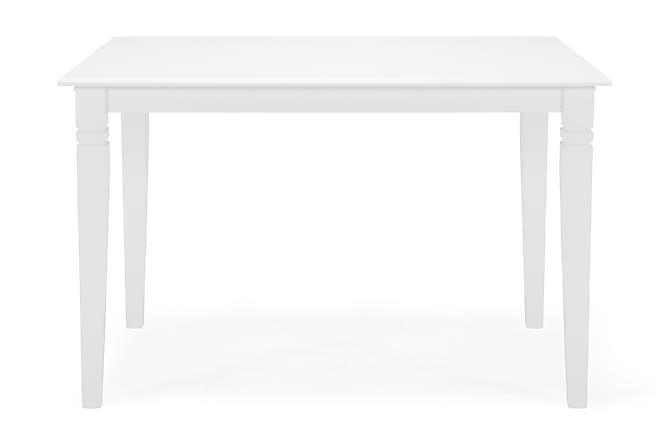 HAILEY Förlängningsbart Matbord 120 Vit - Möbler & Inredning - Bord - Matbord
