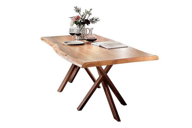 HOPPELI Matbord Trä/Natur/Brun - 180 - Möbler & Inredning - Bord - Matbord