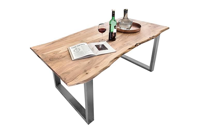 HOPPELI Matbord Trä/Natur/Silver - 180 - Möbler & Inredning - Bord - Matbord