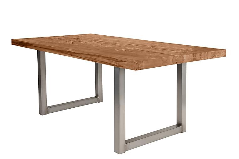 HOPPELI Matbord Trä/Natur/Silver - 200 - Möbler & Inredning - Bord - Matbord