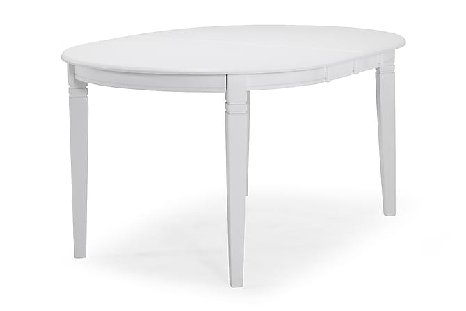 LEVIDE Förlängningsbart Matbord 150 Oval Vit - Möbler & Inredning - Bord - Matbord