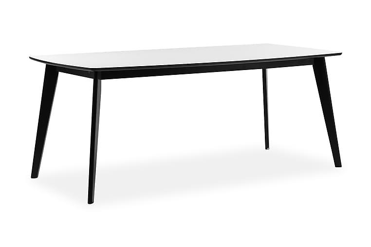 MALMARY Förlängningsbart Matbord 190 Vit/Svart - Möbler & Inredning - Bord - Matbord